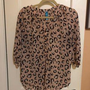 Francesca's Pink Leopard Top